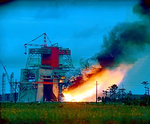 National Register of Historic Places listings in Hancock County, Mississippi - Image: Static Test Firing of Saturn V S 1C Stage GPN 2000 000041