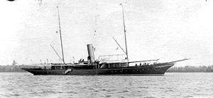 USS Rambler (SP-211) - Steam yacht Rambler in port before her U.S. Navy service during World War I
