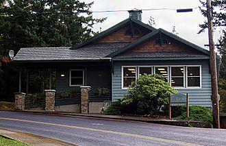 Stevenson, Washington - Stevenson city hall building, established in 1906.