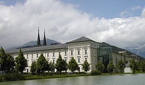 Admont Abbey - Admont Abbey on the Enns River