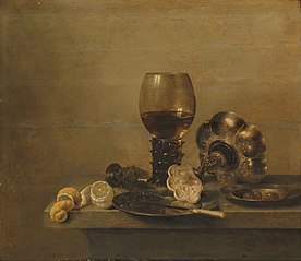 Still life with a broken glass