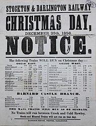 Stockton & Darlington Railway - Christmas Day 1856 timetable.jpg
