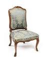 Stol, del av möbeluppsats, 1700-tal - Hallwylska museet - 109809.tif