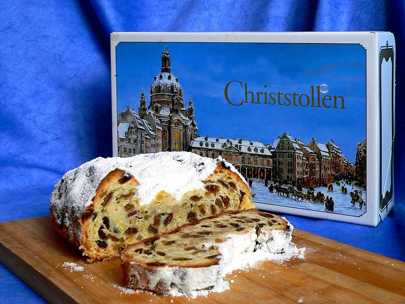 800px Stollen Dresdner Christstollen - Штоллены