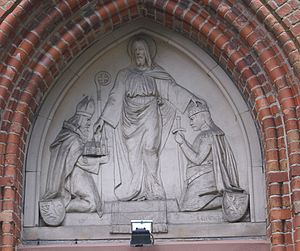 Christianization of Pomerania - Conversion of Pomerania, depicted in Stolpe's Wartislaw Memorial Church