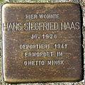 Stolperstein Delmenhorst - Hans Siegfried Haas (1926).JPG