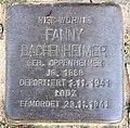 Stolperstein Hektorstr 9 (Halsee) Fanny Bachenheimer.jpg