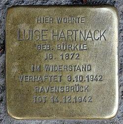Photo of Luise  Hartnack brass plaque