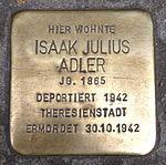 Stolperstein Marburg Isaak Julius Adler Elisabethstr 15 (sk).jpg