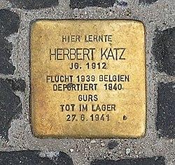 Photo of Herbert Franz Katz brass plaque