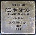 Stolpersteine Höxter, Regina Simson (Westerbachstraße 12).jpg