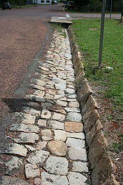 Stone kerbing, channels and footbridges of Charters Towers ...