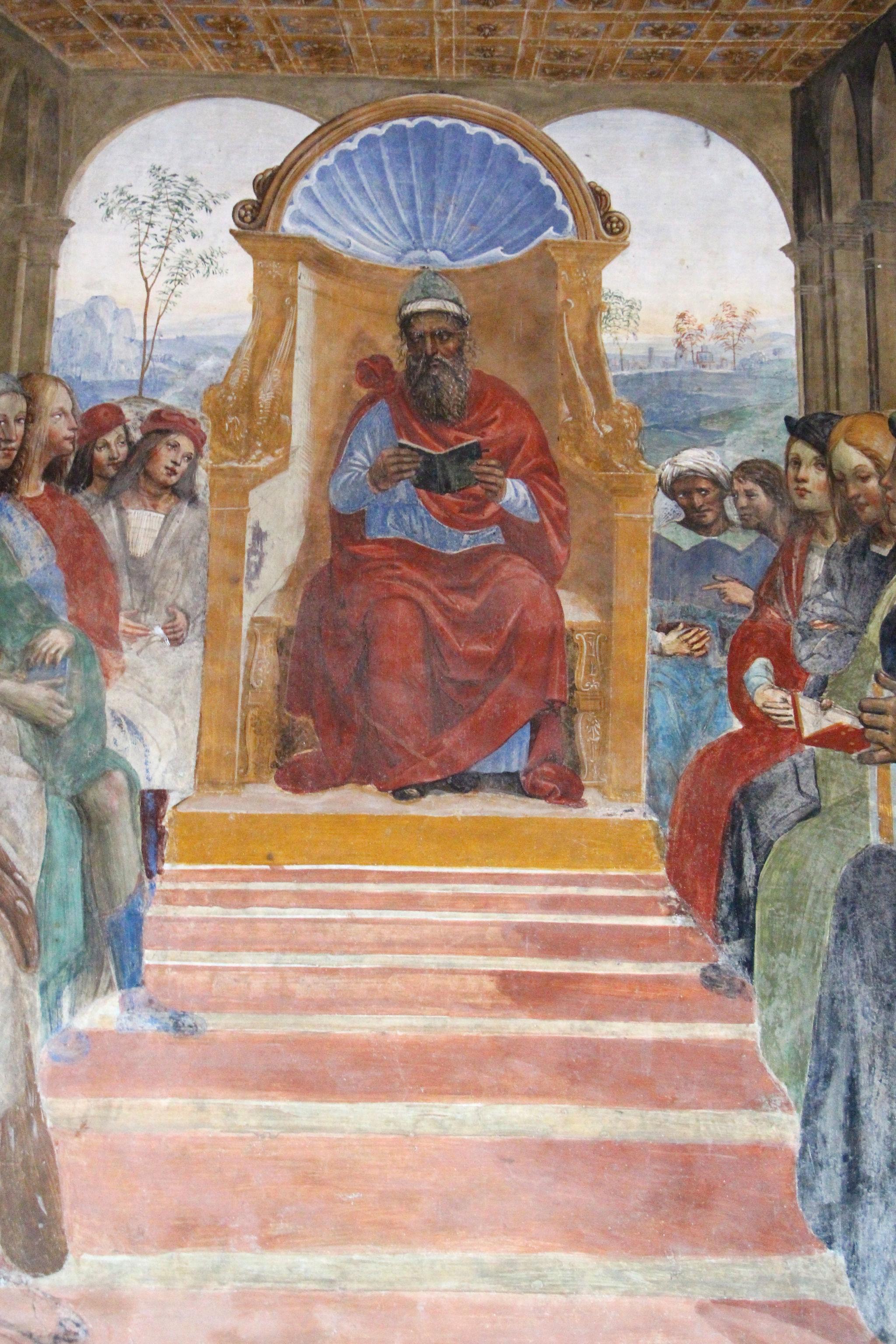 Storie di s. benedetto, 02 sodoma - Come Benedetto abbandona la scuola di roma 04