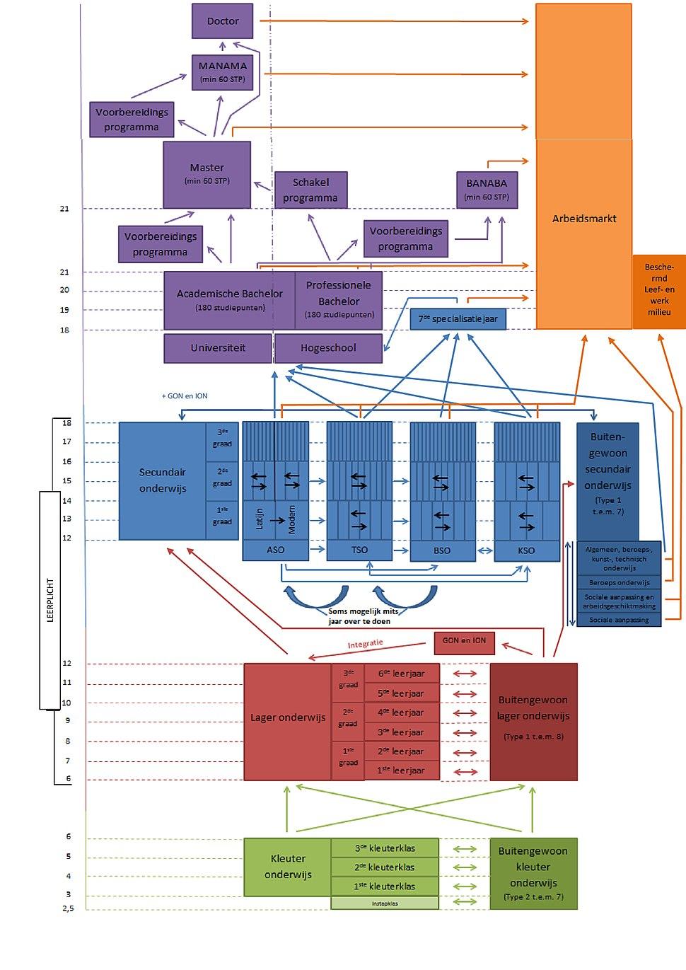 Structuur Onderwijssysteem in Vlaanderen (Pieter Cnaepkens)