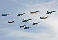 Sukhoi Su-34, Sukhoi Su-24M, Sukhoi Su-27, Sukhoi Su-30, Micoyan&Gurevich MiG-29 (4711768875).jpg