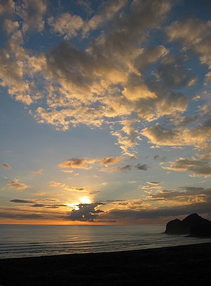 Te Henga (Bethells Beach) - Sunset at Bethells Beach