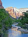 Sunset on Angel's Landing, Zion NP 5-14 (15196640730).jpg