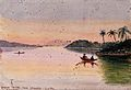 Sunset on the Johore River, Singapore Wellcome V0037493.jpg