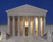 Supreme Court Front Dusk