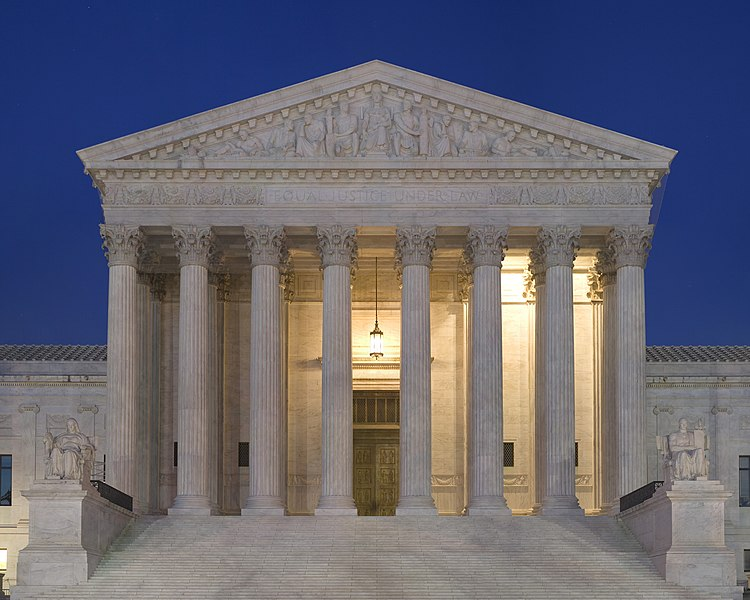 File:Supreme Court Front Dusk.jpg