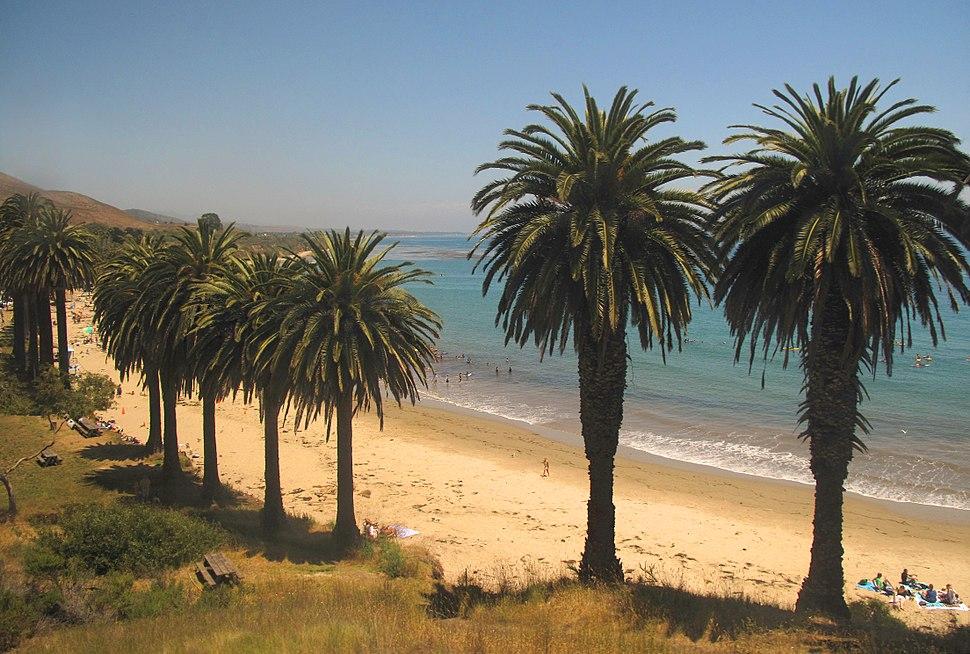 Surfers south of Gaviota, California