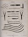 Surgical instruments, including scalpels and catheters. Engr Wellcome V0016356.jpg