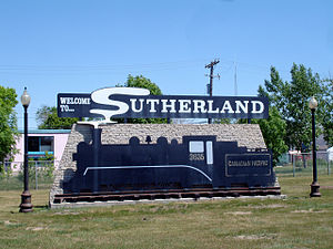 Sutherland, Saskatoon - Sutherland entrance sign