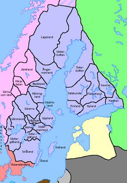 Karta Sverige Lansgranser.Landskap I Sverige Wikipedia