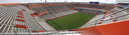 Steve Spurrier-Florida Field at Ben Hill Griffin Stadium, home field of the Gators. Swamp-panoramic.jpg