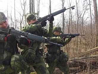 Conscription in Sweden - Swedish conscripts in 2008.