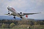 Swiss International Air Lines Boeing 777-3DE-ER HB-JNB (26974421072).jpg