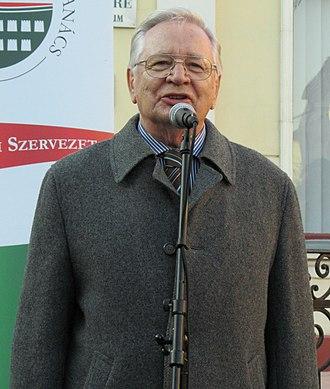 President of Hungary - Image: Szűrös Mátyás 2012 (crop)