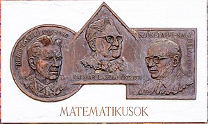 László Kalmár - The face on the middle medallion is Kalmár's