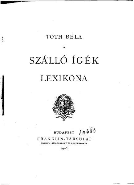 File:Tóth Béla - Szálló ígék lexikona.djvu