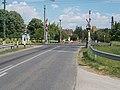 Töltés Street level crossing, 2017 Rákospalota.jpg