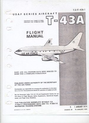Aircraft flight manual - Image: T 43AFlight Manual Title Page