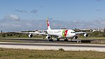 TAP A340-300 just arrived at Lisbon airport (46640476455).jpg