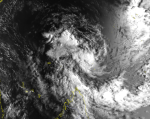 1994–95 South-West Indian Ocean cyclone season - Satellite image of Tropical Depression A1