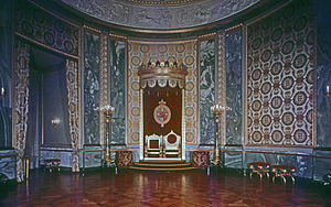 Throne room - The Throne Room at Christiansborg is where foreign ambassadors present their credentials to the Queen.