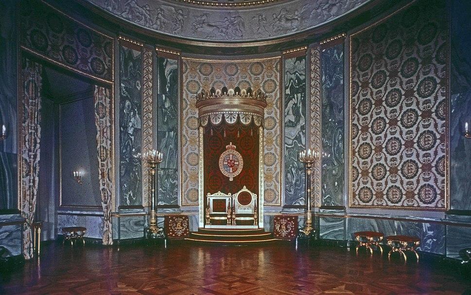 THRONE ROOM, CHRISTIANSBORG PALACE, COPENHAGEN