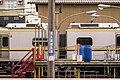TRA EMU800 and no-crossing sign at Hsinchu Station 20151114.jpg