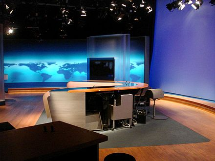 Old studio of the news programme Tagesschau