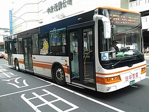 Taichung Bus 203-U8 in front of Chung Yo Department Store 20140504.jpg