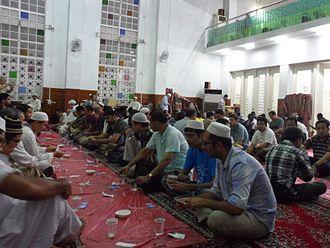 Fasting during Ramadan - Fast break at Taipei Grand Mosque in Taiwan