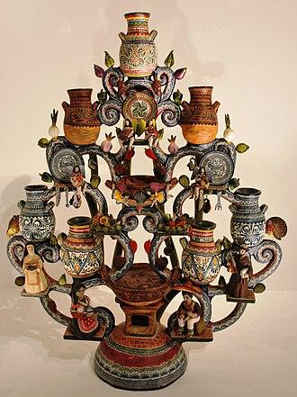 Tree of Life (craft) - Tree with Talavera pottery theme