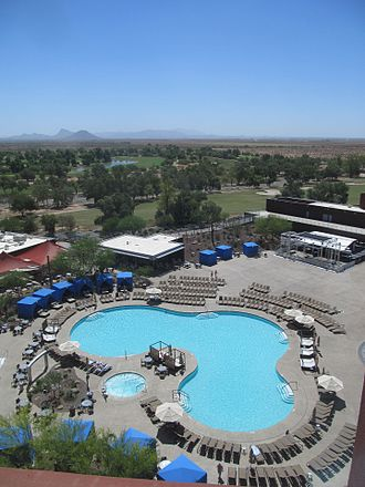Talking Stick Resort - View from the 9th floor, East side of the Resort