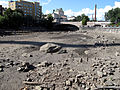Tammerkoski view to hameensilta bridge drained.JPG