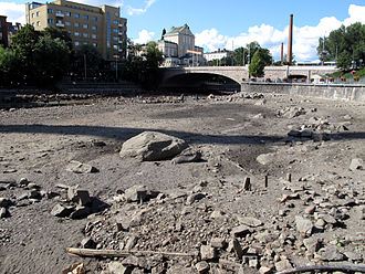Tammerkoski - Tammerkoski is drained on rare occasions to maintain the bridges.