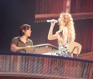 """Teardrops on My Guitar - Swift performing """"Teardrops on My Guitar"""" on the Fearless Tour in 2010."""