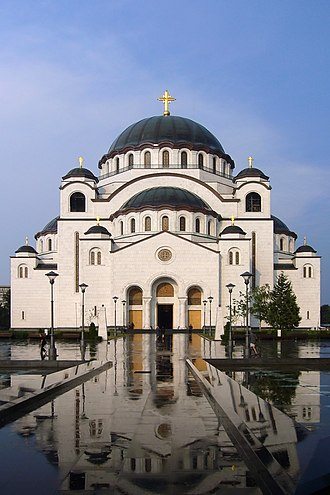 Serbian Orthodox Church - Cathedral of Saint Sava, one of the largest Orthodox buildings in the world, being built continuously since the end of the 1980s on the site where relics of Saint Sava were desecrated by the Ottomans